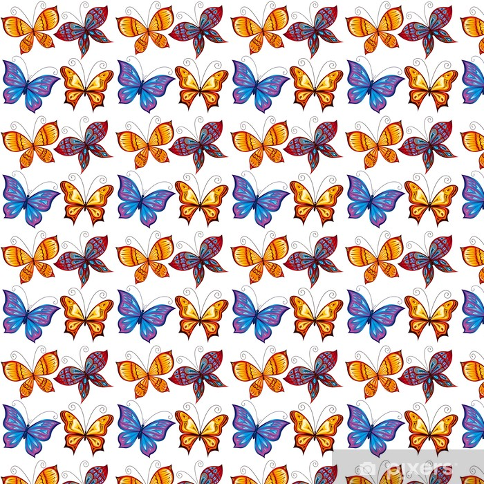 Papier peint vinyle sur mesure Butterflies - Saisons