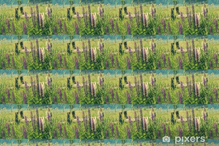 Tapeta na wymiar winylowa Pole kwiatów łubinu - Pory roku