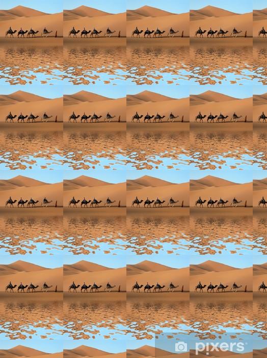 Tapeta na wymiar winylowa Camel Caravan w Sahary - Pustynia