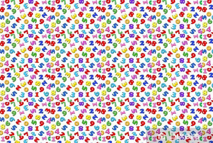 Papier peint vinyle sur mesure 散 ら ば っ た 数字 - Autres sentiments
