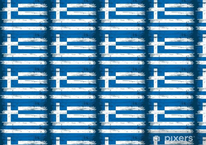 Tapeta na wymiar winylowa Grecką banderą - Europa
