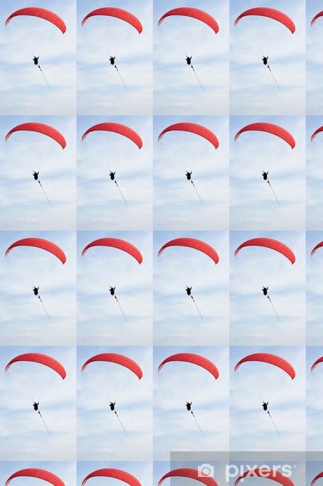 Papier peint vinyle sur mesure Parapente Rouge sur la corde - Sports extrêmes