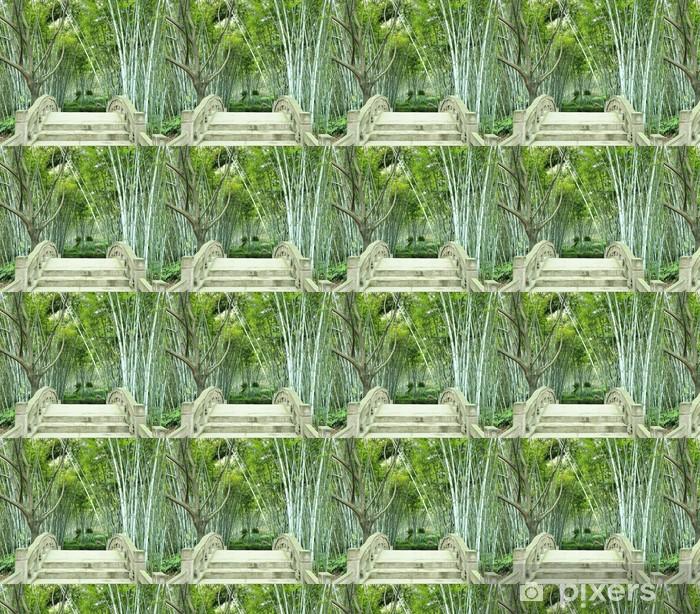 Tapeta na wymiar winylowa Bambusowe gaje i mały most - Pejzaż miejski