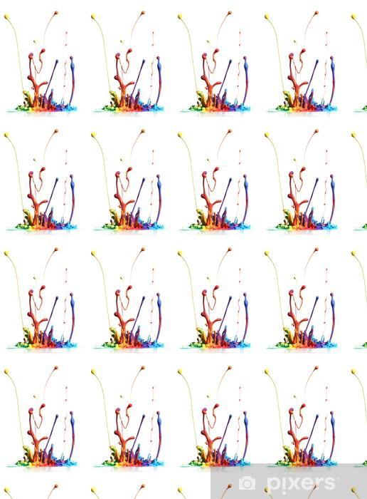 Tapeta na wymiar winylowa Kolorowe farby rozpryskiwania wyizolowanych na białym - Abstrakcja