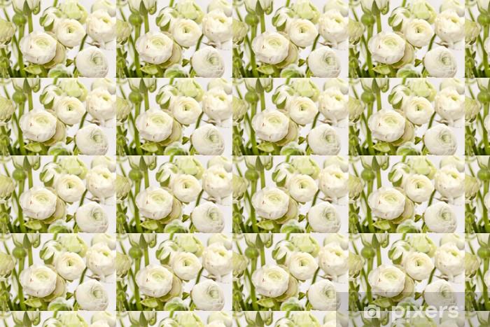 Vinylová tapeta na míru Bílá Ranunculus - Květiny