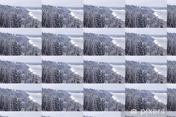 Papier peint vinyle sur mesure Banque d'hiver - Saisons