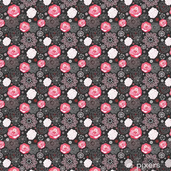 Tapeta na wymiar winylowa Jasny kwiatowy wzór - Tekstury
