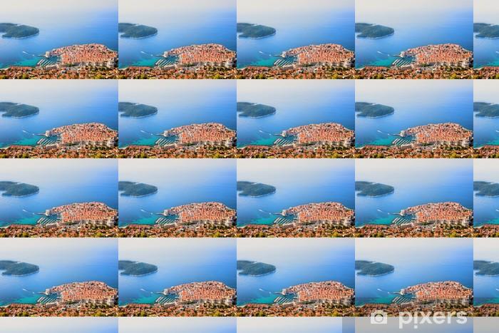 Papier peint vinyle sur mesure Dubrovnik Vue aérienne - Europe