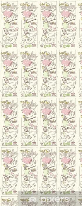 Tapeta na wymiar winylowa Super Lazy Sketch niedziela - Przeznaczenia