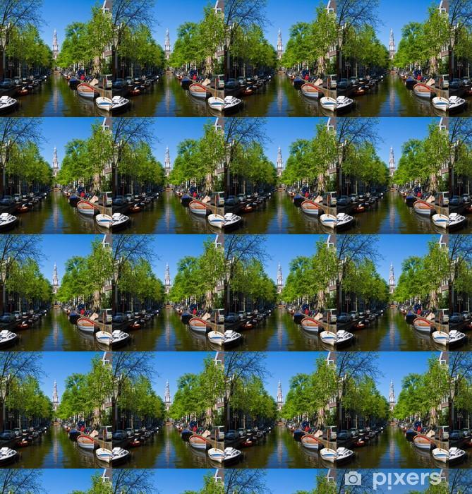 Vinyltapete nach Maß Amsterdam, canale - Europäische Städte