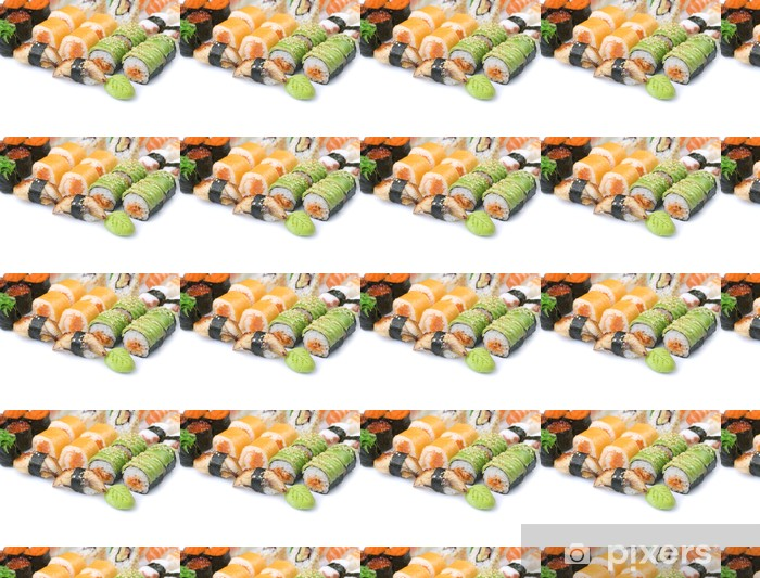 Papier peint vinyle sur mesure Sushi sur blanc - Sushi