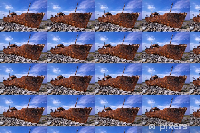 freight vessel was shipwrecked during a storm off the coast of Vinyl Custom-made Wallpaper - Themes