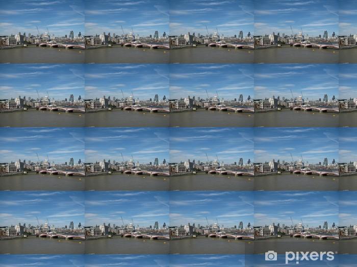 Papier peint vinyle sur mesure Vue de la London Eye de la cathédrale de Oxo Tower et St Paul - Villes européennes
