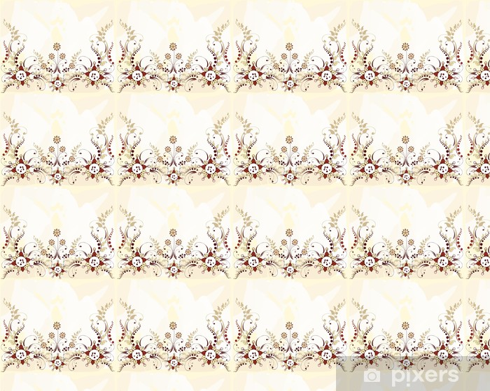 Floral pattern border Vinyl custom-made wallpaper - Backgrounds