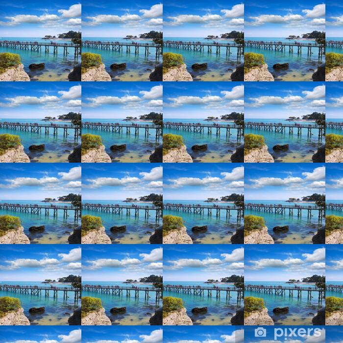 Papier peint vinyle sur mesure Noirmoutier, le ponton - Vacances