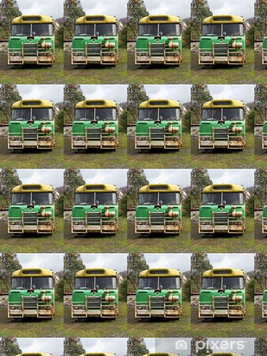 Papier peint vinyle sur mesure Old School Bus - Sur la route