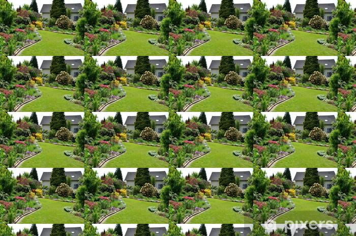 Papier peint vinyle sur mesure Vue sur le jardin - Maisons et jardins