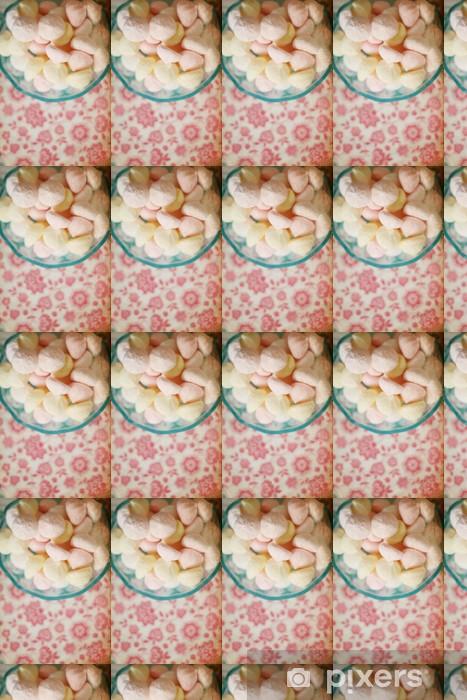 Vinyl behang, op maat gemaakt Zoete snoepjes met retro patroon, marshmallow - Stijlen