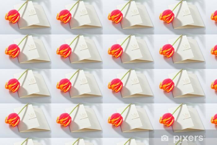 Tapeta na wymiar winylowa Dziecka, gratulacje, puste, kwiat, noworodek, tulipan - Świętowanie