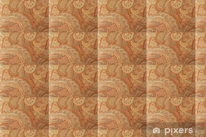Tapete Ein braunes Paisley-Stil der 70er Jahre Design-Muster - nach Maß
