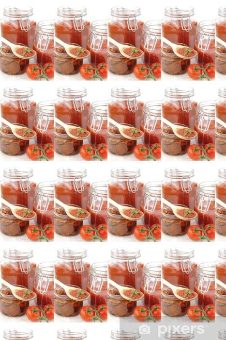Papier peint vinyle sur mesure Sauce tomate et tomates fraîches - Thèmes