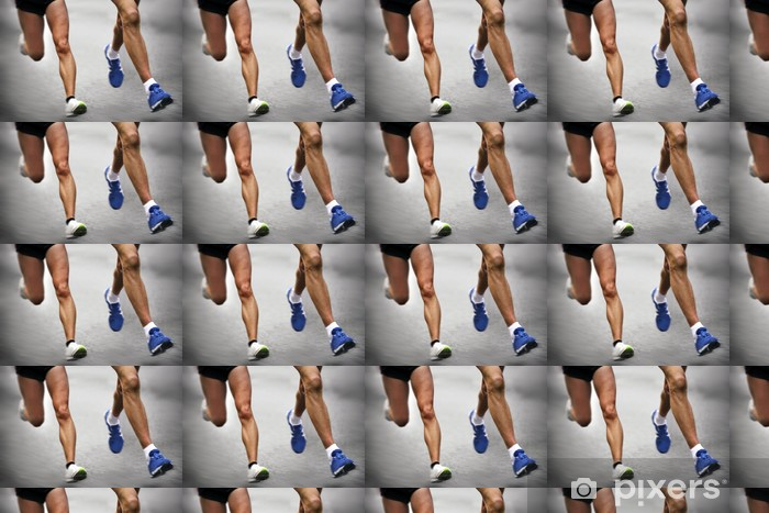 Papel pintado estándar a medida Corredores de maratón - movimiento borroso - Temas