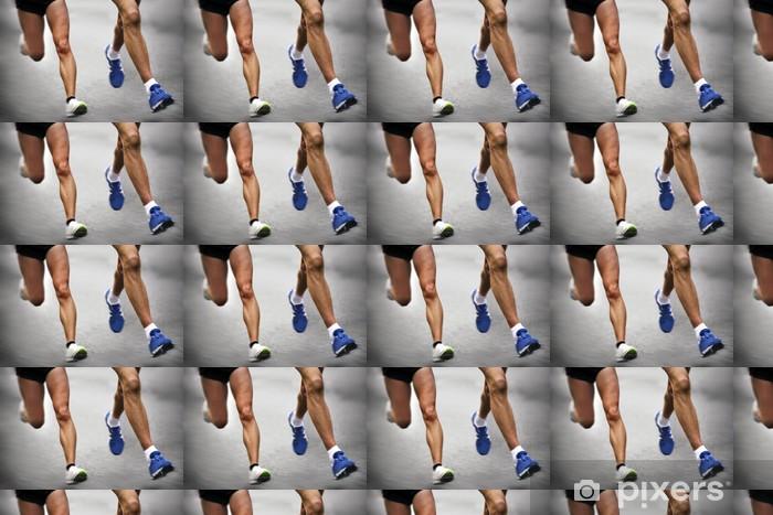 Papier peint vinyle sur mesure Marathon runners - blurred motion - Thèmes