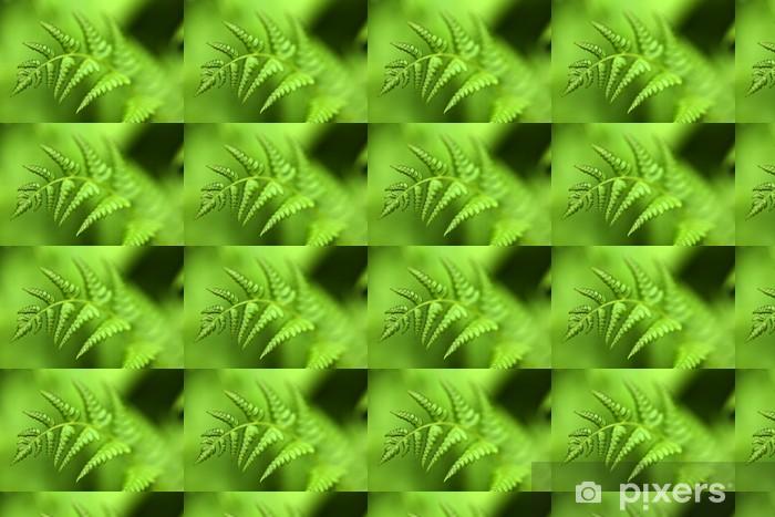Papier peint vinyle sur mesure Vert fougère - Plantes