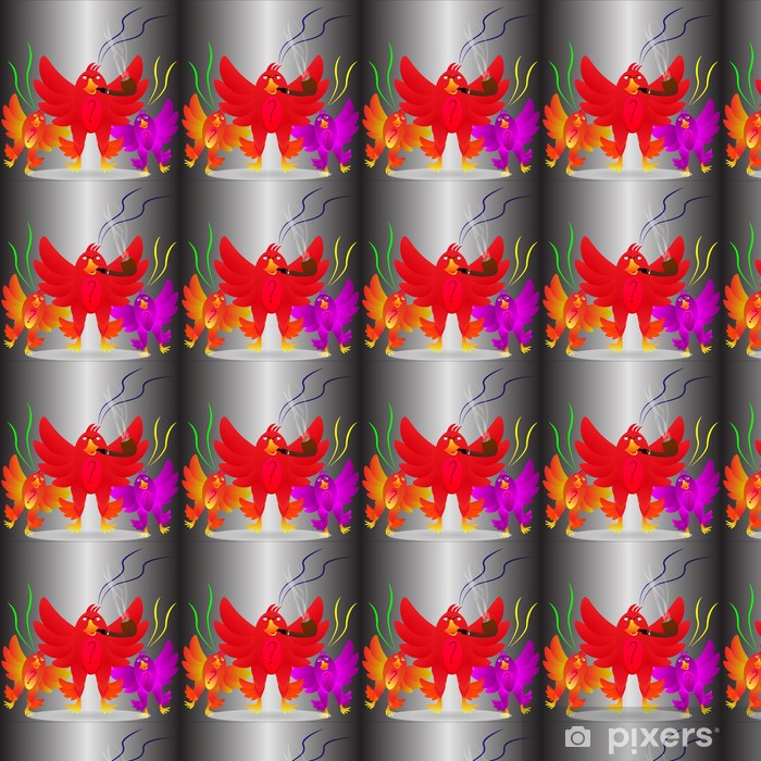 Angry birds Vinyl custom-made wallpaper - Backgrounds