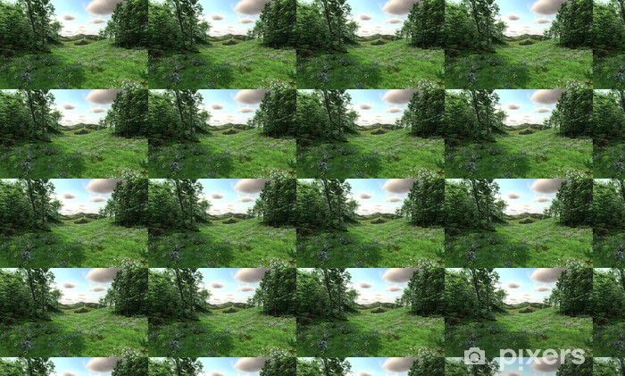 Countryside with meadows and hills Vinyl custom-made wallpaper - Countryside
