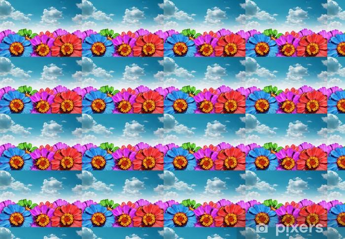 Tapeta na wymiar winylowa Tło z kwiatów i nieba - Kwiaty