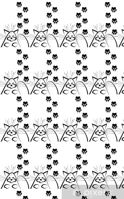 Vinylová tapeta na míru Kočka a stopy - Savci