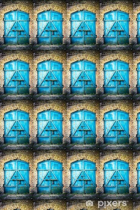 Vinylová tapeta na míru Železná brána v modré barvě - Evropa