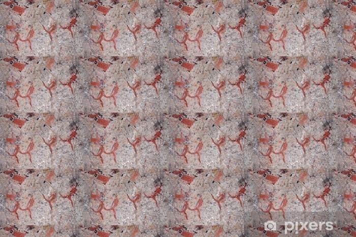 Papier peint vinyle sur mesure Bushmen roche peinture, Afrique du Sud - Afrique
