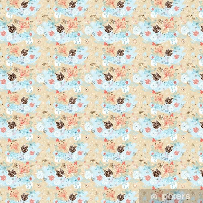 Tapeta na wymiar winylowa Kwiatowy wzór z motyli - Pory roku