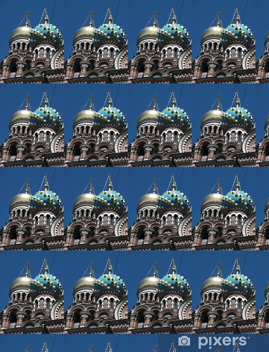 Vinyl behang, op maat gemaakt Cupole della Chiesa della Resurrezione een san Pietroburgo - Openbare Gebouwen