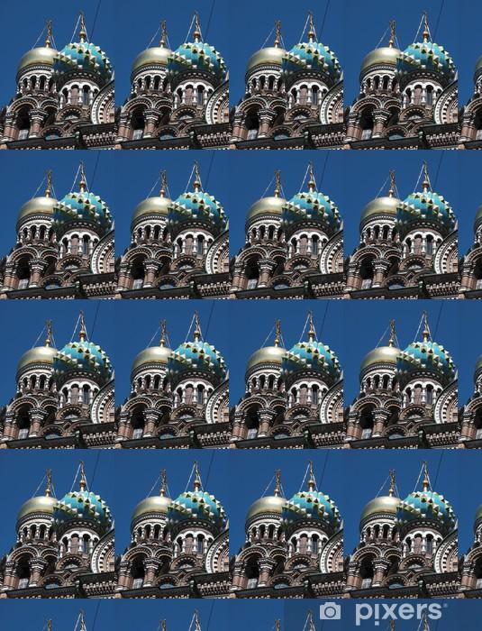 Tapeta na wymiar winylowa Kopuły kościoła Zmartwychwstania w Petersburgu - Budynki użyteczności publicznej
