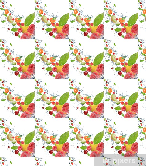 Papier peint vinyle sur mesure Fruits frais en mouvement - Fruits
