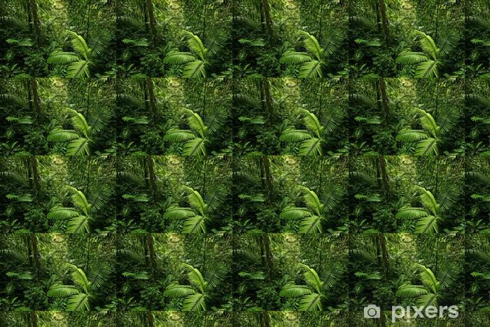Dense Tropical Rain Forest Wallpaper Vinyl Custom Made