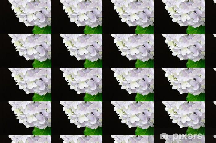 Papier peint vinyle sur mesure 黒 背景 の ア ジ サ イ - Fleurs