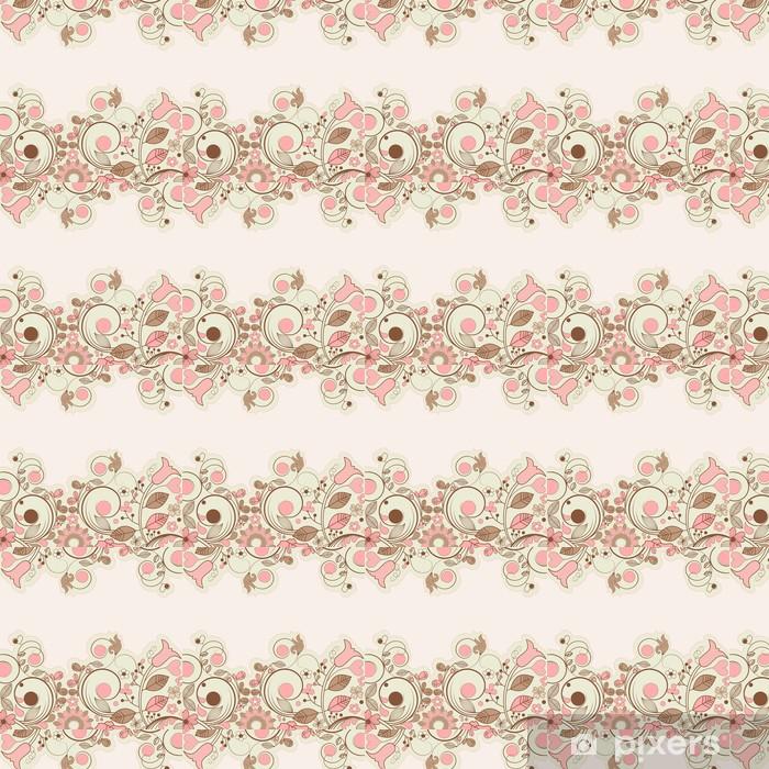 Vintage floral frame Vinyl custom-made wallpaper - Destinations