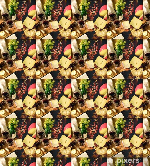 Vinyltapete nach Maß Wein und Käse - Käse