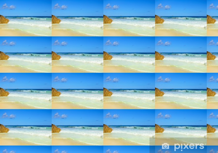 Palms Panorama Shore Vinyl custom-made wallpaper - Seasons