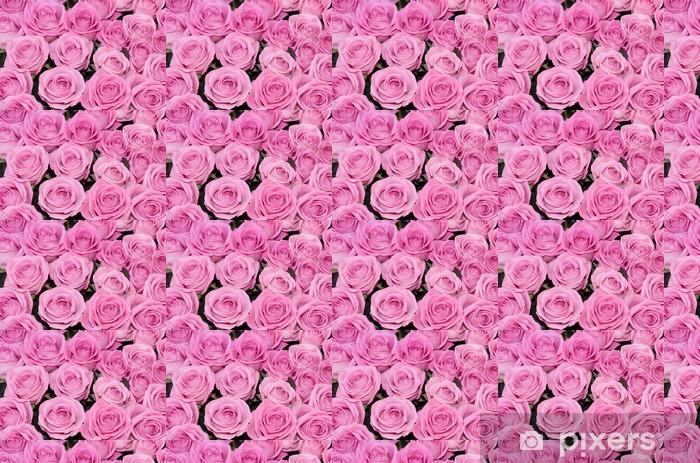 Tapeta na wymiar winylowa Ślubne różowe róże ślubne z góry, z góry - Świętowanie