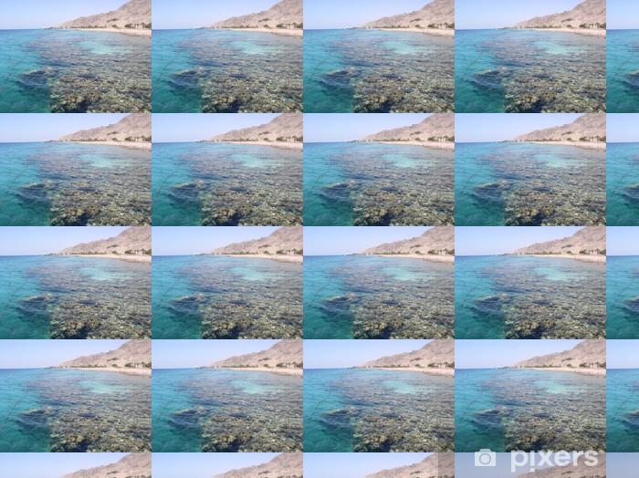 Papier peint vinyle sur mesure Mer morte corail - Eau