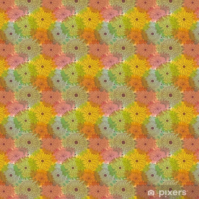 seamless floral pattern Vinyl custom-made wallpaper - Seasons