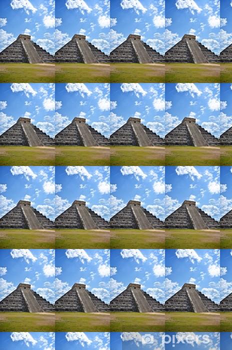 Portrait of Ancient Mayan pyramid in Chichen-Itza, Mexico Vinyl Custom-made Wallpaper - America