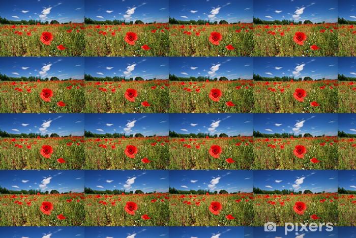 poppy Vinyl custom-made wallpaper - Flowers