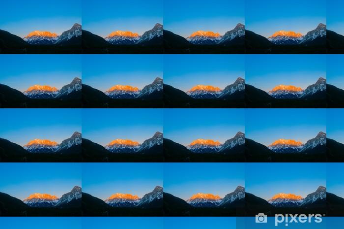 Papier peint vinyle sur mesure Mt. Zugspitze - La plus haute montagne en Allemagne - Montagne