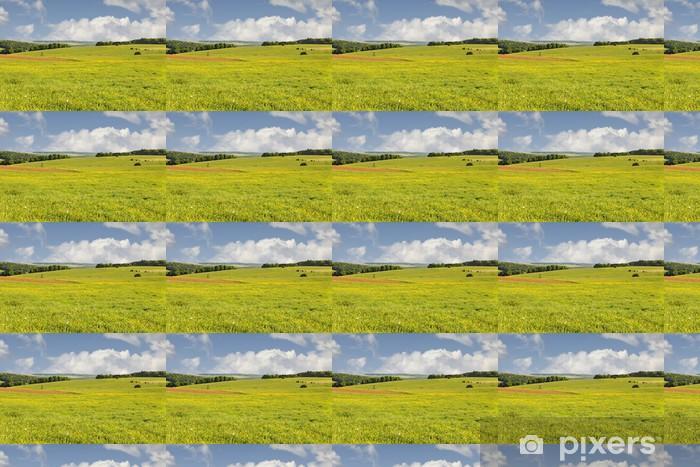 Papier peint vinyle sur mesure Blossoming prairie Rouhling - Saisons